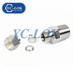 En gros à six pans mâle de flexible en acier inoxydable de connecteur d'adaptateur de tube