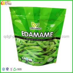 Organic Edamame congeladas 500g Bolsa de Comida de embalaje con Zip-Lock desde fábrica
