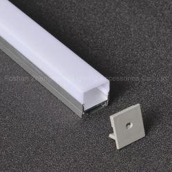 LED das luzes laterais três tiras de perfil de alumínio