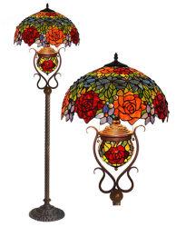 Tamanho personalizado artesanal grossista Tiffany Luz de piso com vitrais