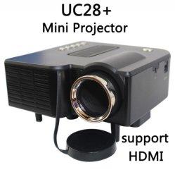 As UC28+ Mini Domésticos Projector LED TV computador suporte Flash USB SD e projector de DVD