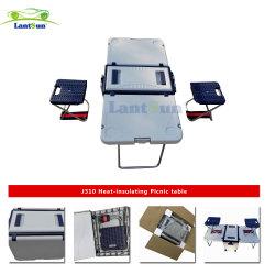 Mesa plegable del refrigerador caja con ruedas caja del refrigerador mesa de picnic J310