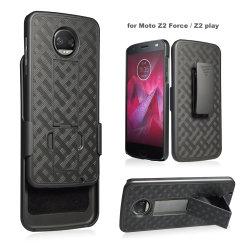 단단한 쉘 결합 권총휴대 주머니 단단한 PC Motorola Z2 힘을%s 니스 질 자동차 또는 셀룰라 전화 상자