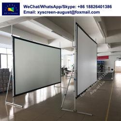 Xyscreen 200 pouces 16 : 9/4 : 3 Ecran de projection portable de pliage rapide avec projection avant et arrière