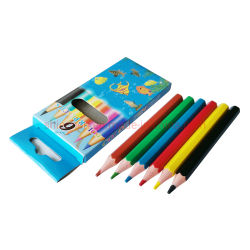 """3.5"""" 6PCS Hexágono Desenho Infantil Mini plástico lápis de cor"""