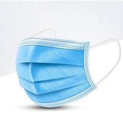 3 capas máscara desechable no tejido de la piel y resistente al agua, anti-polvo