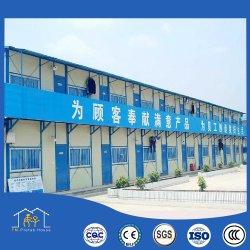 Factory-Supplied casa prefabricada de paneles sándwich de acero con color de la casa prefabricados temporal