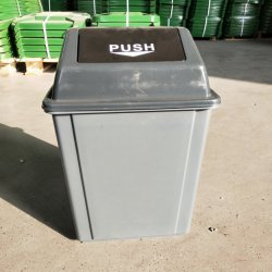 50L 클램셸 플라스틱 쓰레기통 사무실 쓰레기통