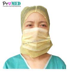 Protezione a gettare non tessuta del pirata qualificata ISO13485 di industria alimentare, protezione dello spazio, protezione dell'atronauta con la maschera di protezione