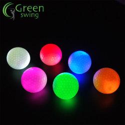 Balles de golf de clignotement constant LED brillant des balles de golf des balles de golf