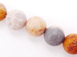 Commerce de gros 4-12mm mat ronde Corail Naturel Perles de Jasper