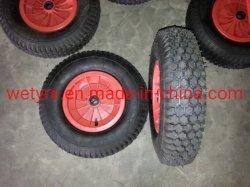 Mejor precio de plástico de alta calidad de la rueda de goma de neumático de RIM para la carretilla de mano (4.00-8)