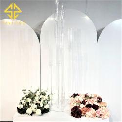 Candelabro de cristal de elegante decoración comedor de banquetes de boda vela