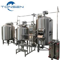 ビール醸造装置のマイクロビール醸造所500L 1000L 10bblのパブのBrewhouseのクラフトビールビール醸造所の発酵タンクターンキーのプロジェクト