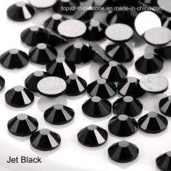 Pedra Cristal de moda para senhora vestir SS10 Preto Jacto não Hot Fix Rhinestones posterior plana (FB--SS10 Preto azeviche/3A)