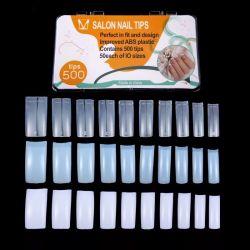 500PCSの白くか明確または自然なカラー釘の芸術のマニキュアの釘の先端