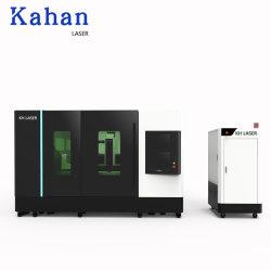 Industrie CNC-Faser-Laser-Ausschnitt-Maschine für das Blatt metallschneidend mit vollen Enclosde Schrank-und Austausch-Tischen