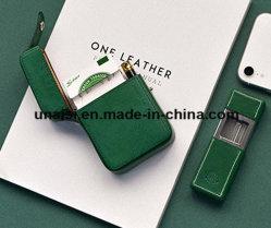 Le cuir rouge à lèvres Boîte porte-Cigarette électronique cigare pour cadeau de cas