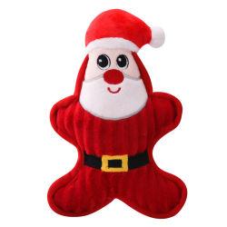 Comercio al por mayor artículos novedosos de la mascota perro de peluche clásico de Navidad Chew Toy
