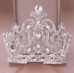 Weiße Kristallform-Brautzubehör-Kronen-Tiara