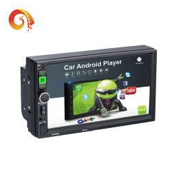 2 DIN Autoradio 7 pouces écran tactile LCD Android 7916 Joueur de l'autoradio auto prise en charge plusieurs langues audio Bluetooth GPS Apk vlc un lecteur de DVD