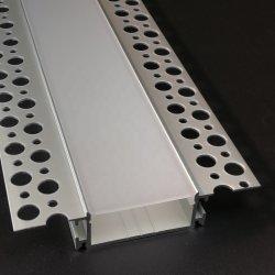 Profil en aluminium led avec profil aluminium extrudé Trimless encastrés dans les plaques de plâtre pour bande LED lumière au plafond