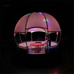 余暇夜のライトが付いている電気BBQドーナツボート