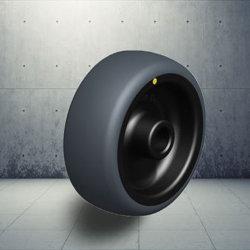 産業黒い熱可塑性のゴム製踏面ESDの足車の車輪
