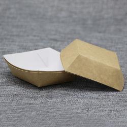 Commerce de gros carton Kraft Emballage du papier Bac d'aliments pour pique-nique, BBQ et de la partie