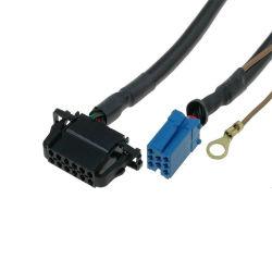 Kabel voor CD MiniContactdoos 8pin van de Wisselaar ISO voor VW Audi 12pin Assemblage van de Kabel