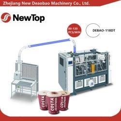 Vaso de papel inteligente de alta velocidad, máquina de formación de manga (DEBAO-118DT)