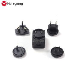 Auswechselbarer Us/EU/UK/Au Stecker-Wand-Montierung 5V 12V 24V 0.5A 1A 2A 3A Wechselstrom-Spannungs-Adapter für bewegliches Dvds
