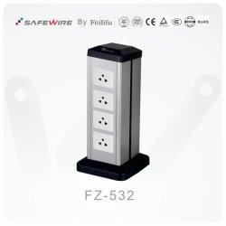 Colonna elettrica di superficie verniciata dello zoccolo/contenitore modulare presa di servizio/di collegare