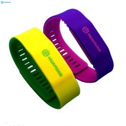 WACKER qualifiés de caoutchouc de silicone de verrue d'Amusement Park MIFARE Classic 1K 4K RFID bracelet en silicone