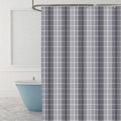 Cortina de ducha de poliéster de alta calidad con acceso gratuito a puta de plástico