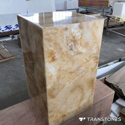 가벼운 상자를 위한 Transtones Backlit 인공적인 돌 실제적인 오닉스