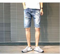 2019 última moda Blue Stretch curto homens Denim Jeans Ks-D001