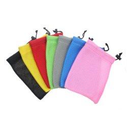 Commerce de gros sac de maille de haute qualité éponge sacoche pour portable sac à poussière avec diverses couleurs