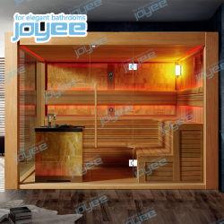 Joyee 4-6 personne sauna à vapeur en bois une cabine de douche