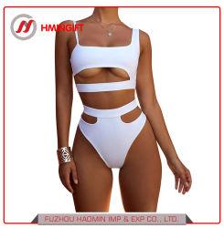 Form-Frauen-Badeanzug-höhlen hohe Taillen-Badebekleidung heraus Swim-Abnützung aus