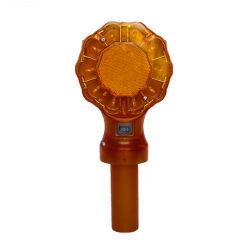 Tráfego Solar Cone do Pisca Alerta Âmbar da Segurança Rodoviária Luz Intermitente