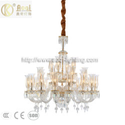 Новый современный стиль Baroco роскошными хрустальными люстрами лампа с маркировкой CE (AQ-20173-16+8+4)