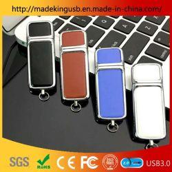 Le côté en acier cuir personnalisé lecteur Flash USB/ clé USB pour cadeau mode personnalisé