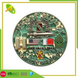Design simples Custom Antique Bronze medalha de Desafio 2D de Metal (242)