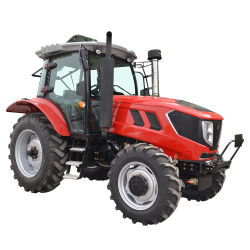 Los tractores agrícolas 90HP 100HP 110HP HP 120 130HP de 4 ruedas motrices 4X4 con cabina de CA para la venta
