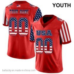 熱い流行の完全な昇華青年スポーツシャツのフットボールジャージー