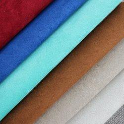 중국 단화를 위한 직접 직물 100%년 폴리에스테 스웨드 직물, 합성 무명벨벳 바닥, 합성 가죽 스웨드 보세품 가짜 모피 직물