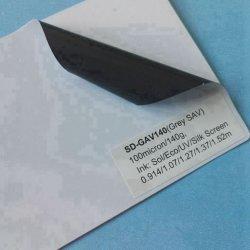 Vinyle auto-adhésif colle gris avec un solvant de l'impression