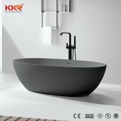 Design moderno Preto/Cinza banheira em pedra de resina acrílica banheira banheiro independente