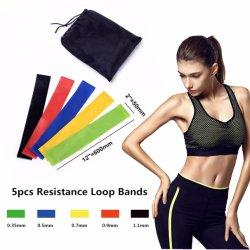 Équipement de fitness de l'exercice de la résistance de la bande élastique avec des couleurs différentes